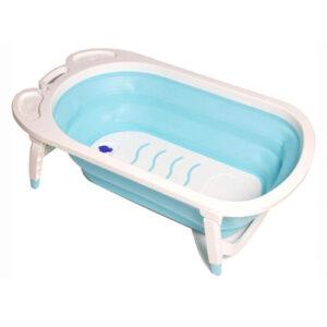 אמבטיה-מתקפלת-לתינוק-עם-רגלים-מתקפלות תכלת